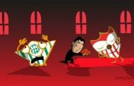 Foto: Magnífica interpretación de la ida del derbi copero por @SevillaFComic