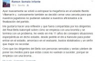 Foto: Ramón Somalo critica las bromas del Betis...