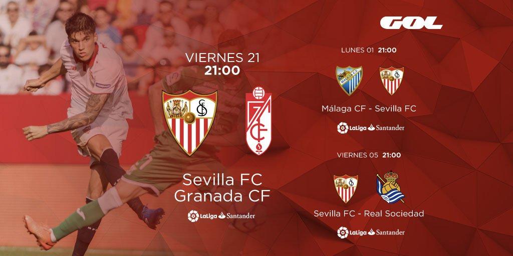Los tres próximos partidos del Sevilla FC que dará GOL en abierto