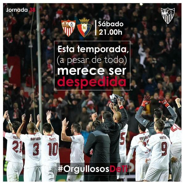 Foto: El Sevilla hace un llamamiento para despedir la temporada con honores