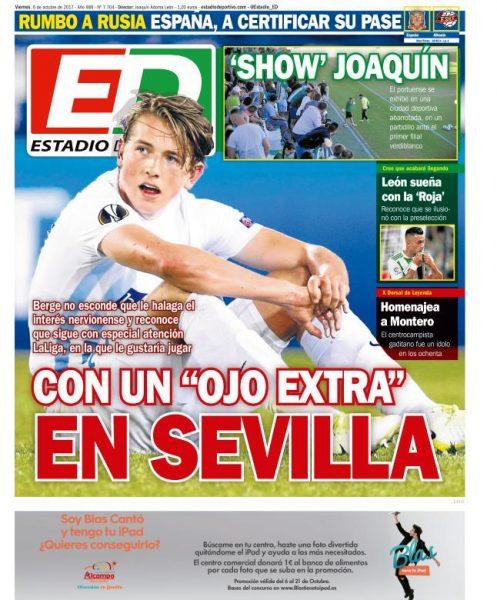 Portada ED - Con un 'ojo extra' en Sevilla