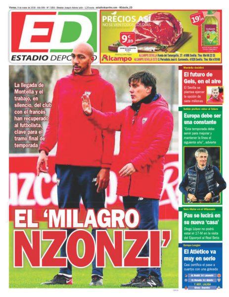 Portada ED - El 'milagro NZonzi' y el club se plantea comprar a Geis
