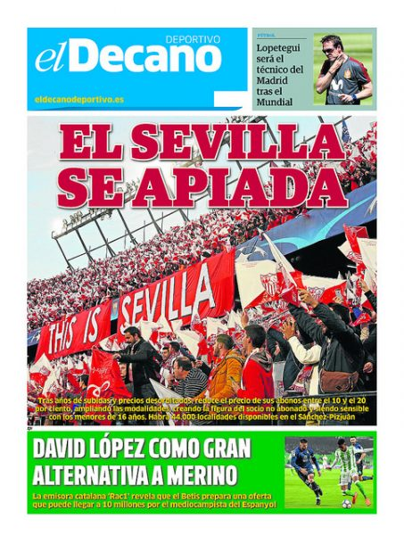 Portada DD - El Sevilla se apiada