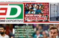 Portada ED - El Sevilla apunta a Sergi Gómez