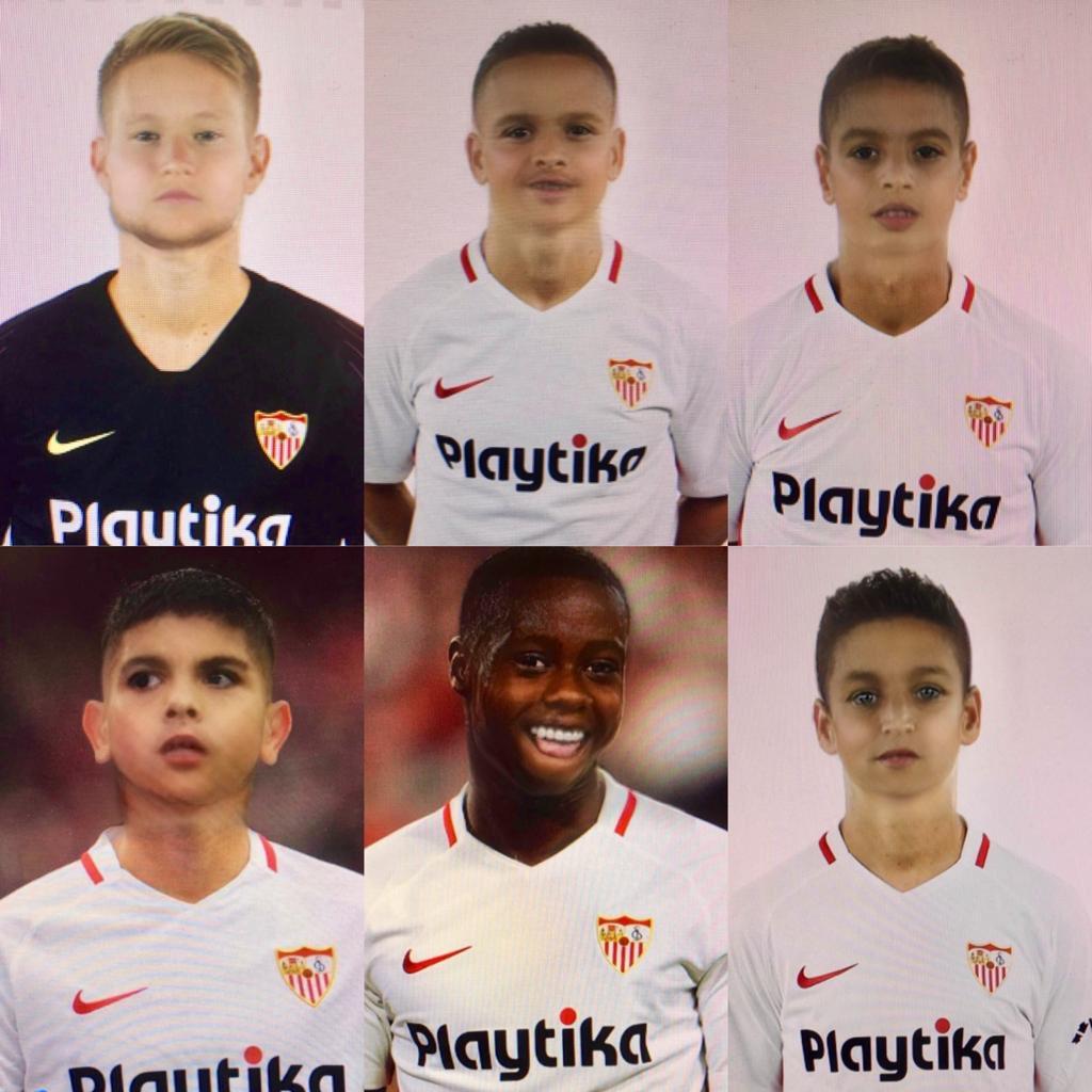 Foto: Babyface de los jugadores del Sevilla FC