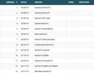 Calendario La Liga 2019.Foto Calendario Completo Del Sevilla Fc Para La Liga 2019 2020