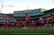 Vídeo: El Sevilla se entrenó en el mítico Fenway Park