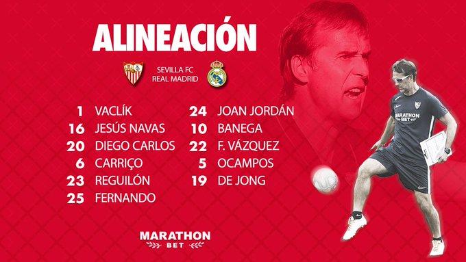 Once del Sevilla FC contra el Real Madrid