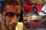 Foto: Así quedó el Ferrari y Martín Cáceres tras el choque