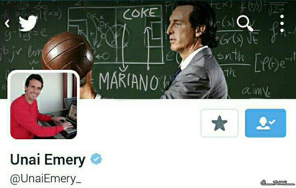 Monchi y Emery se automotivan vía Twitter