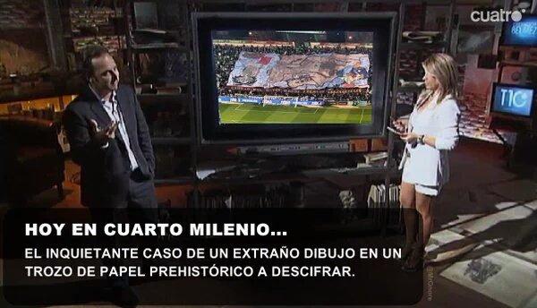 Foto: Hoy en Cuarto Milenio el tifo del Betis - Vamos Mi Sevilla 5.0