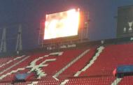 Foto: Ya está el nuevo videomarcador de Gol Sur instalado vía @arbitropayan