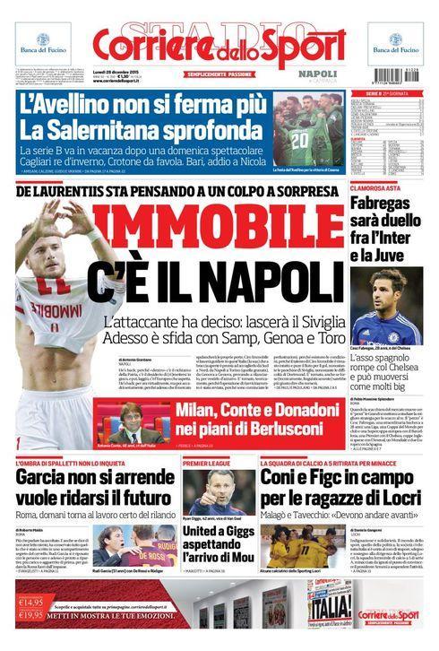 Immobile portada del Corriere dello Sport