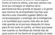 Foto: El mensaje de Antonio Luna a Ceballos en las redes sociales