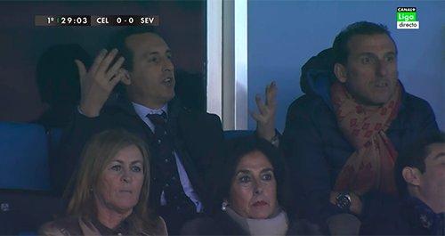 Vídeo: Reacción de Emery tras la expulsión de Fazio vía @SamuSVQ