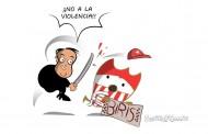 Foto: @SevillaFComic resume a la perfección la persecución a la afición del Sevilla FC