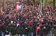 Foto: Seguidores del Basilea camino del Estadio...