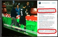 Foto: Feo gesto de Rami a la afición del Sporting