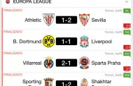 Foto: Así quedó la ida de los cuartos de la Europa League