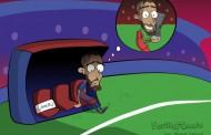 Foto: @SevillaFComic y el posible fichaje de Gameiro por el Barça