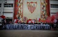 Foto: 'Sevilla Nos Pertenece' frente al mosaico