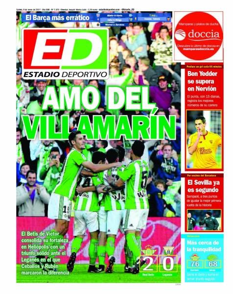 Portada ED - Ben Yedder se supera y el Sevilla ya es segundo