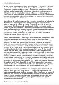 Carta a Pepe Castro
