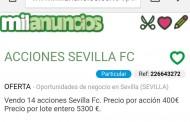 Foto: Se anuncian venta de acciones del Sevilla en internet, vía @sebashlm