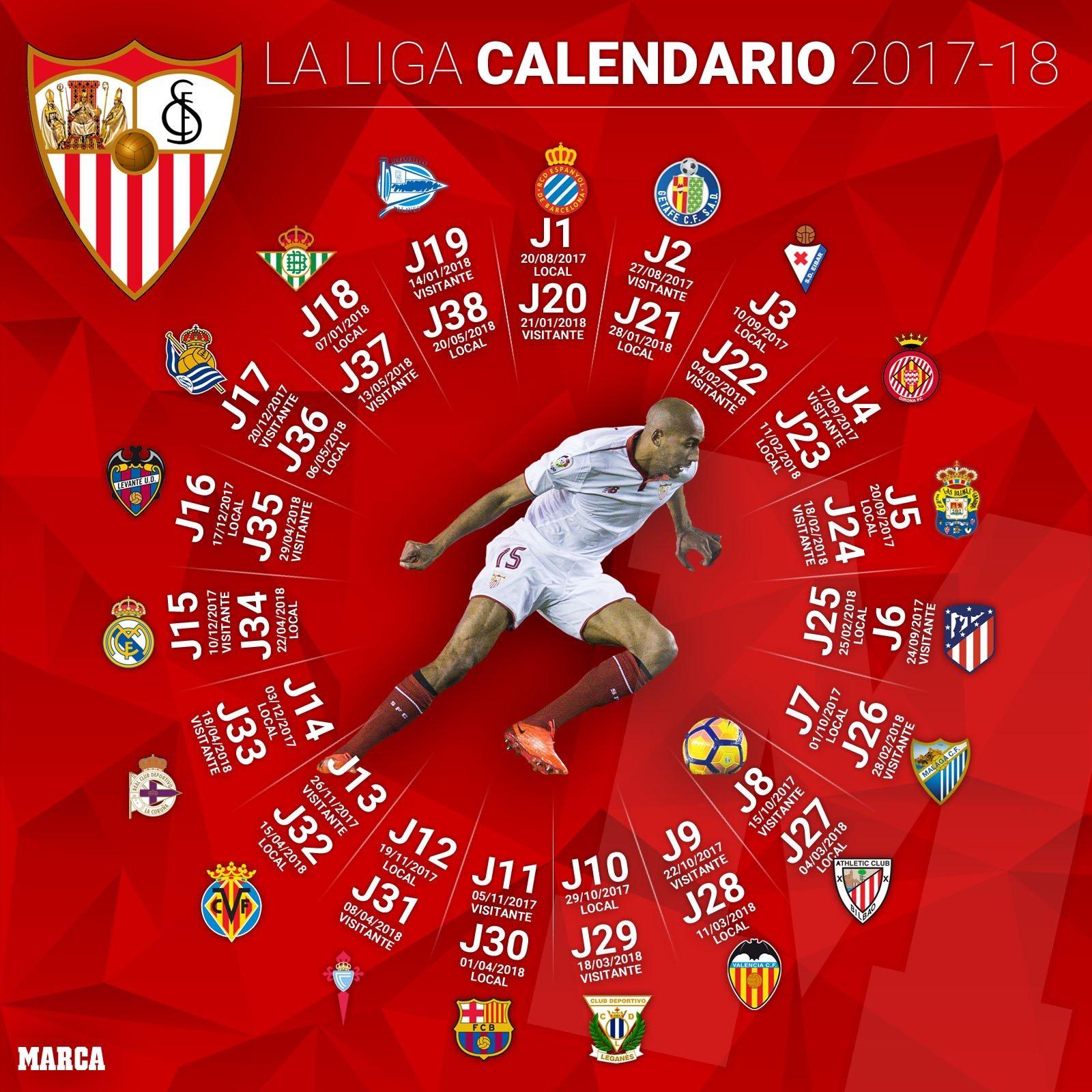 Calendario Sevilla.Foto Calendario Compacto Del Sevilla Fc Vamos Mi Sevilla 5 0