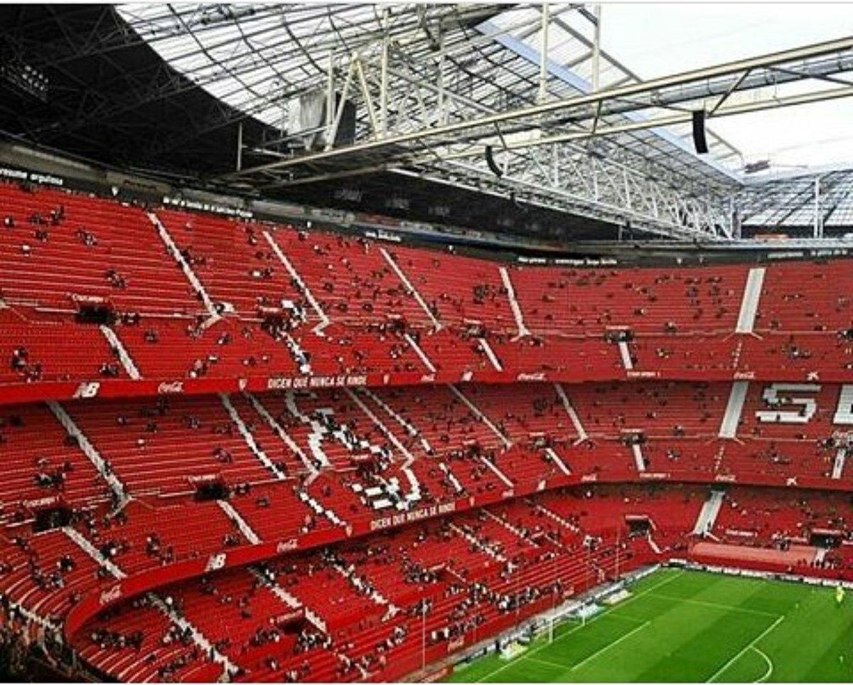 Foto: Recreación del Estadio del Sevilla con tres gradas, vía @JoaqunFortunati