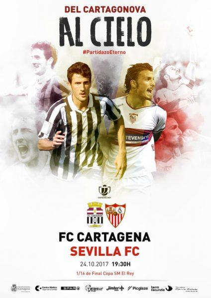 Foto: Emotivo cartel para el Cartagena-Sevilla FC de Copa