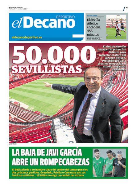 Portada DD - Tres proyectos para 50.000 sevillistas