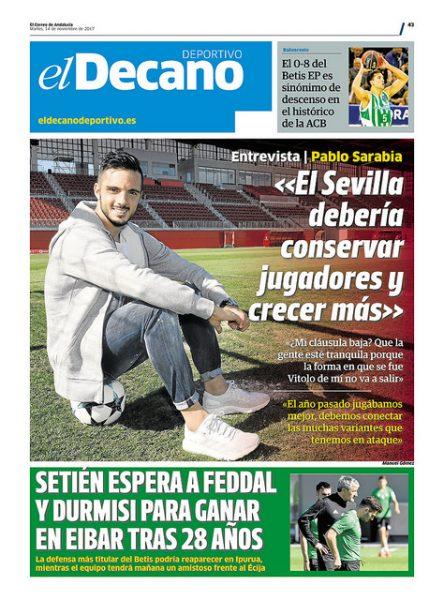 Portada DD - 'El Sevilla debería conservar jugadores y crecer más'