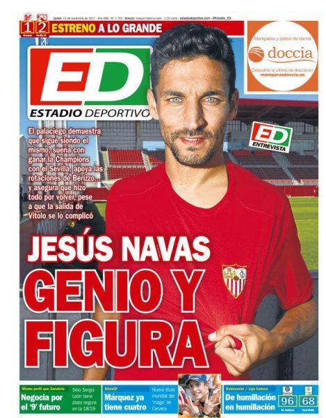 Portada ED - Jesús Navas, genio y figura