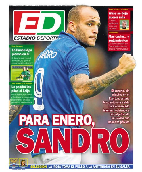 Portada ED - Para enero, Sandro