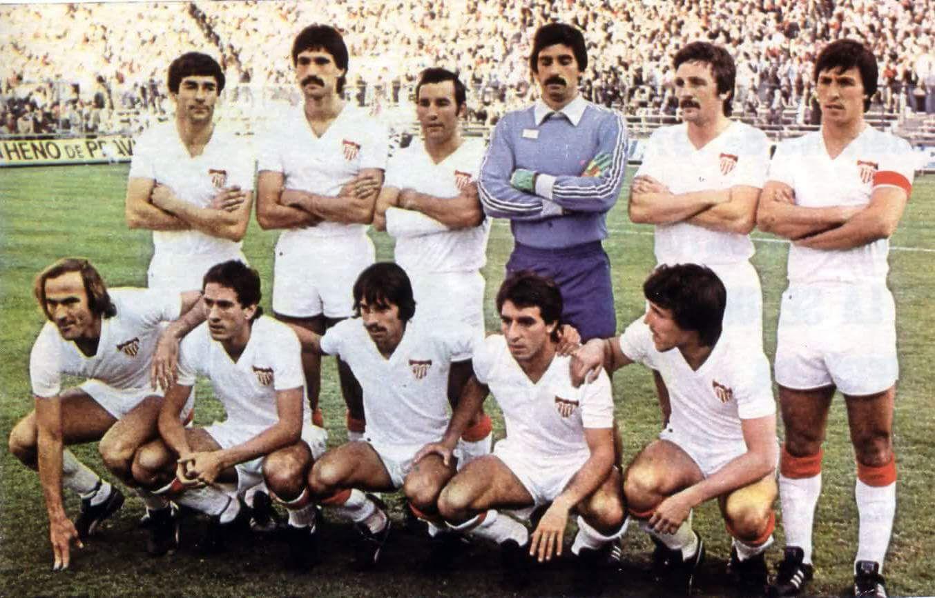 Foto: Cuando en el Sevilla se llevaba el bigote