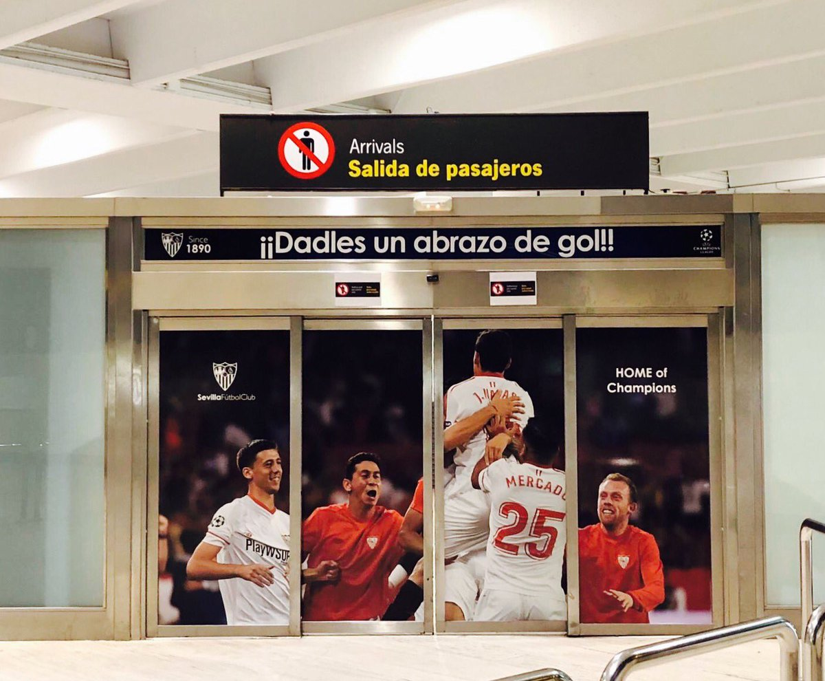 Aena respalda al Sevilla ante la UEFA para la final de la Europa League