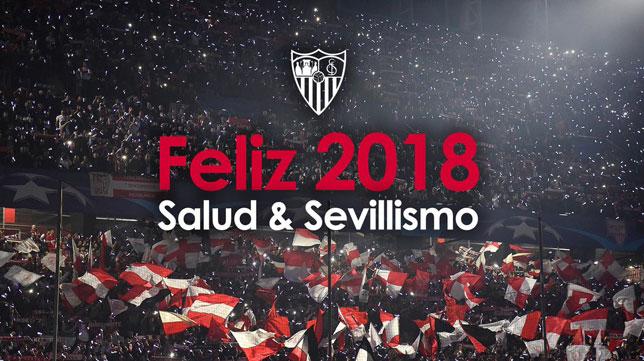 Foto: La felicitación de Año Nuevo del Sevilla FC