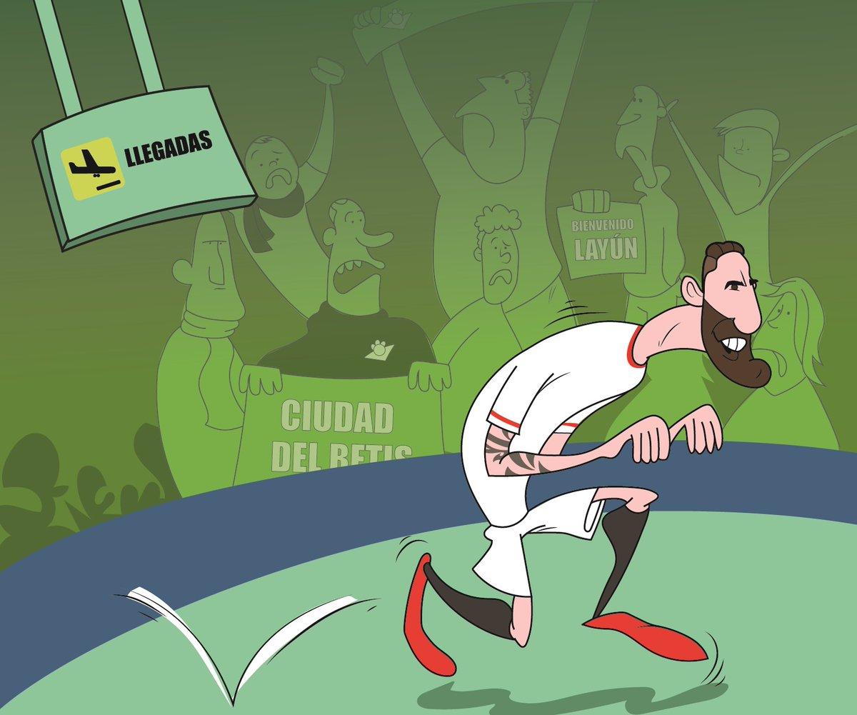 Foto: La llegada de Miguel Layún vista por @SevillaFComic