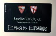 Qué pasa si pones el carnet del Sevilla bajo el grifo, vía @CiudadanoMies