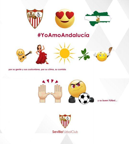 Así felicitó el Sevilla FC el día de Andalucía