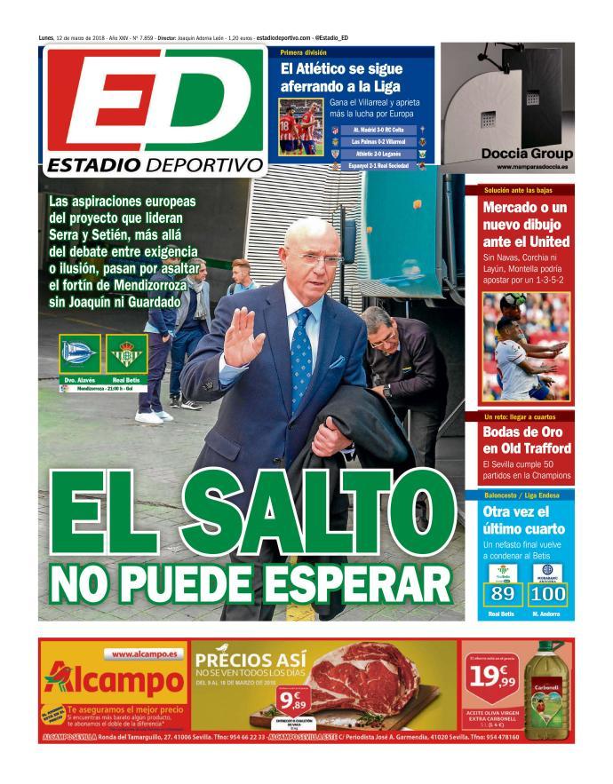 Portada de los Diarios Deportivos de Sevilla
