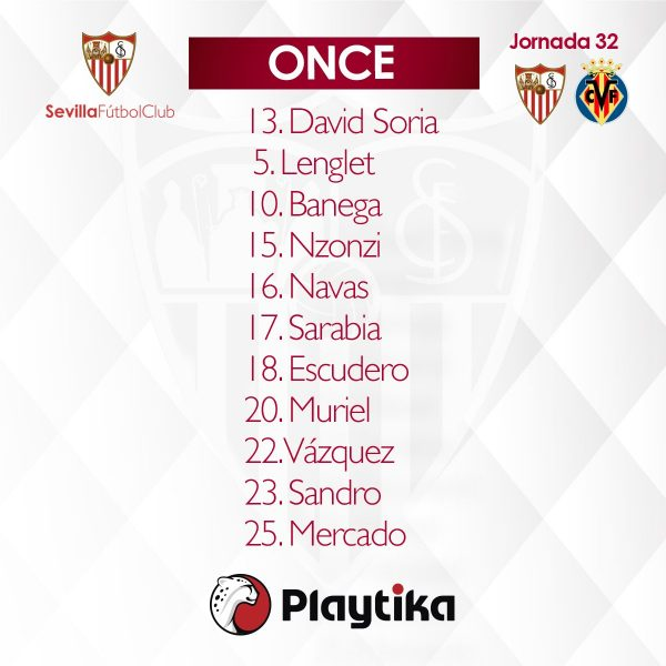 Once del Sevilla FC contra el Villarreal CF