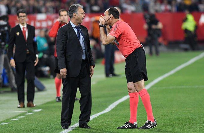 Uno de cada tres partidos que ha dirigido Mateu Lahoz en LaLiga ha sido ante el Sevilla