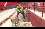 Vídeo: Avanzan las obras para la nueva tribuna y accesos de Fondo