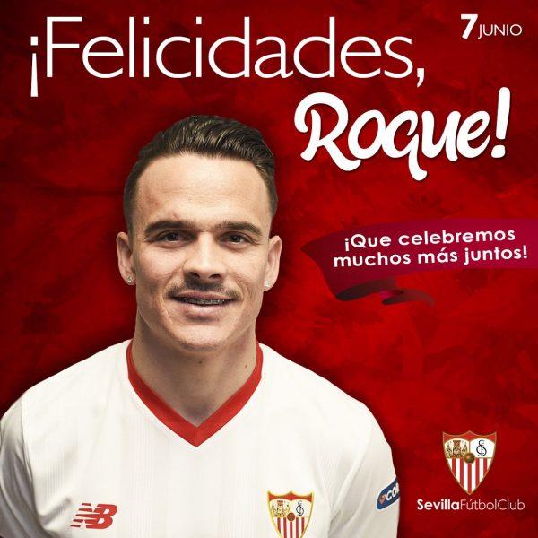 Foto: El guiño del Sevilla FC a Roque Mesa en twitter en su cumpleaños