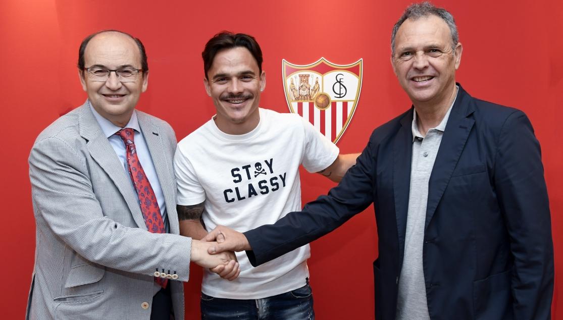 Roque Mesa: 'Estoy muy feliz y con ganas de defender este escudo a muerte'