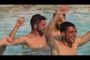 Vídeo: El Sevilla se entrena en el agua al ritmo de El Arrebato