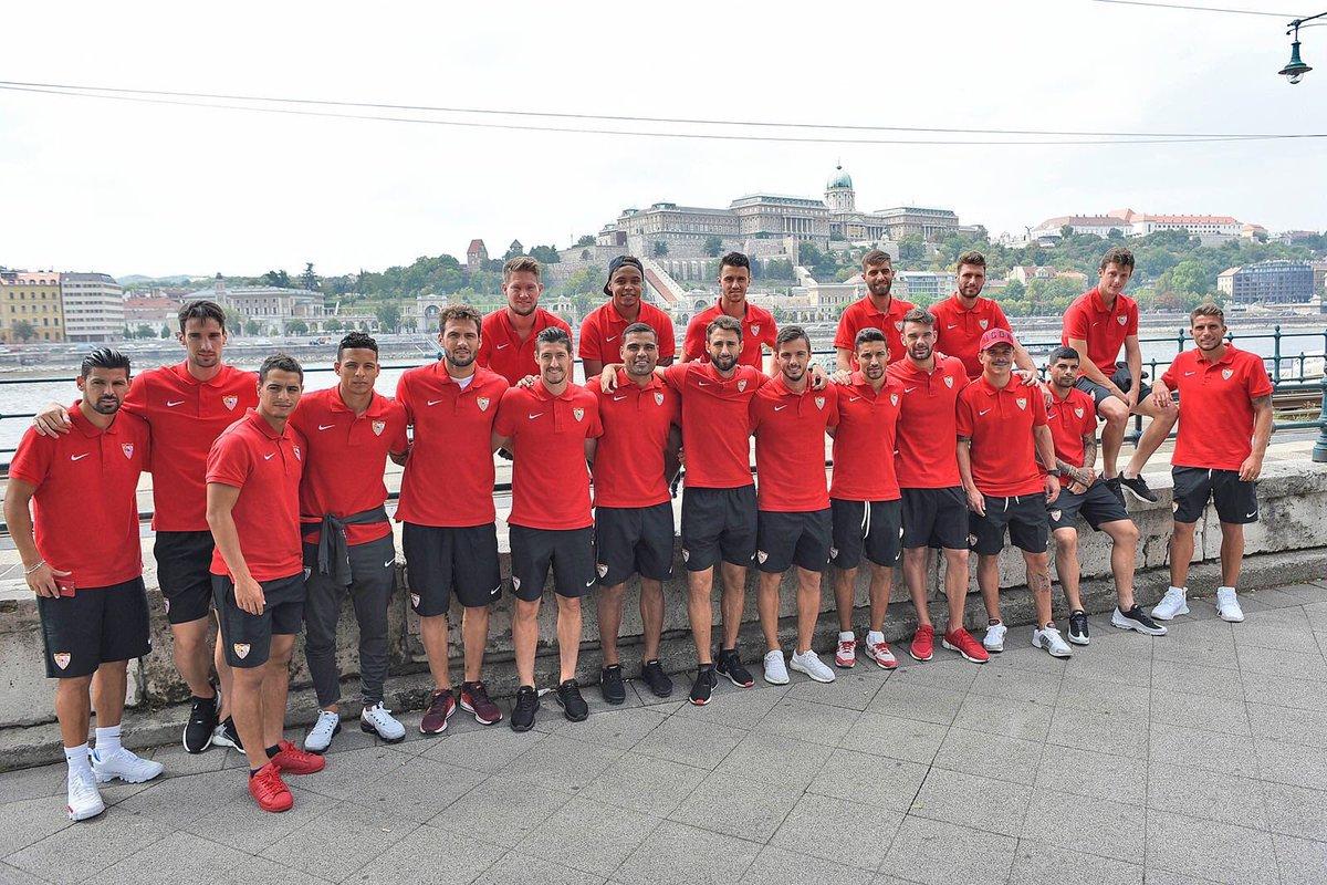 Foto: El equipo salió a pasear por Budapest antes del partido