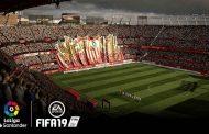 Imágenes del FIFA19 del Sánchez-Pizjuán con tifo de Biris incluido